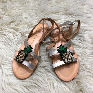 Dolce Vita pineapple sequin strapping sandals